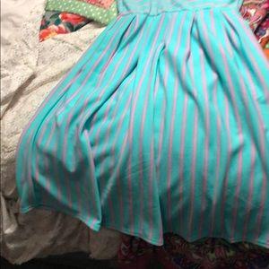 LuLaRoe Dresses - LuLaRoe Amelia Small Cotton Candy